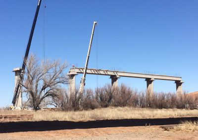 EIGHT SPAN ELEVATED BNSF RAIL LINE